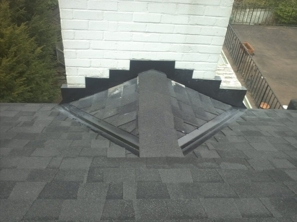 Chimney Cricket built by Pro Roofing